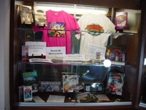 Route66 Memorabilia display case