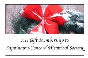The SCHS Holiday gift membership card.