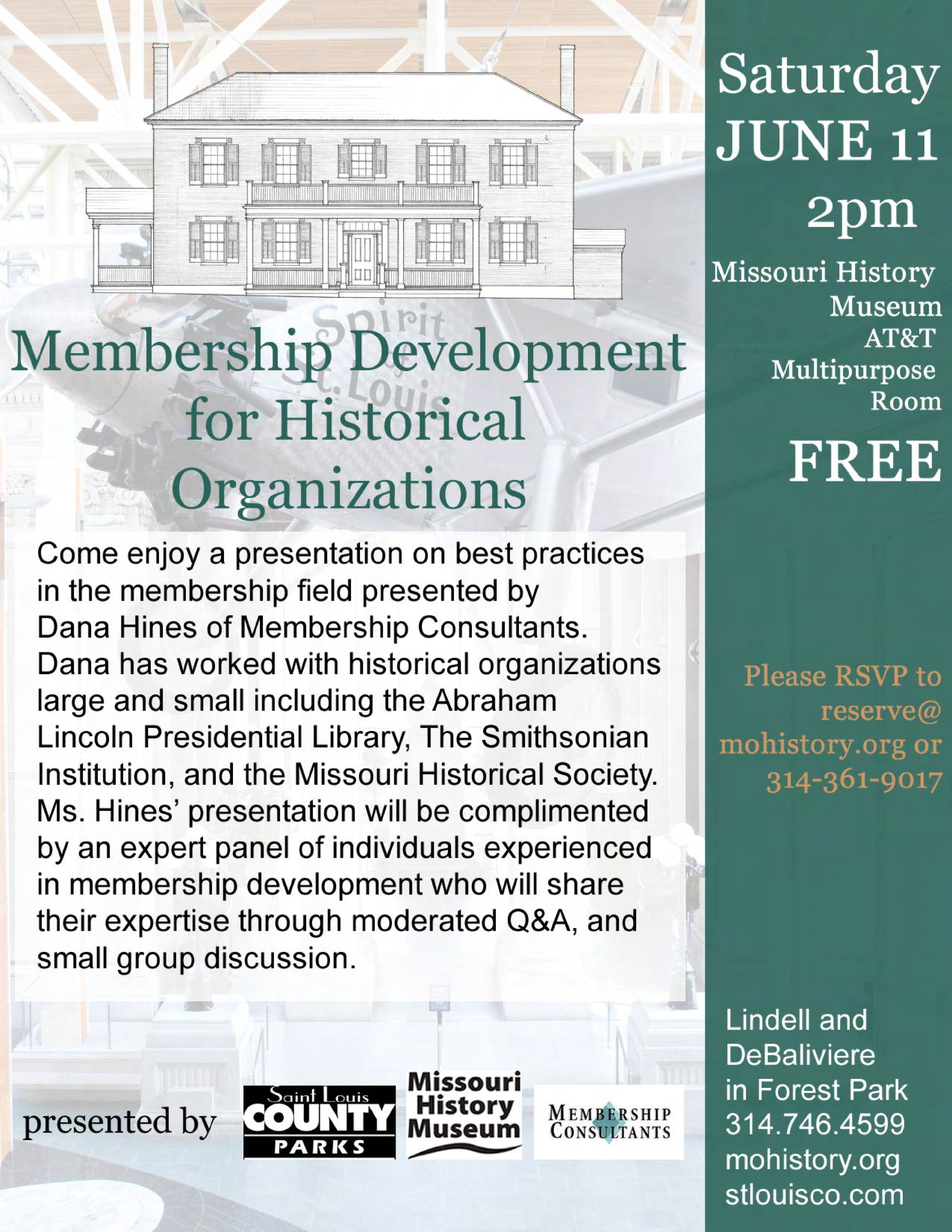 Membership Development Workshop flier