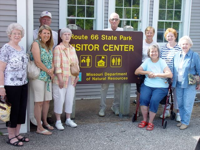 The group of attendees at the Route 66 State Park Meet-at-the-Site tour