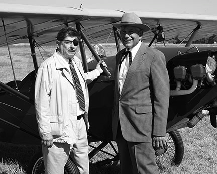 Lester Lurk as Will Rogers and Joe Bacon as Wiley Post Photo from: http://www.willrogers.com/assets/news/August_2013/general/general.html