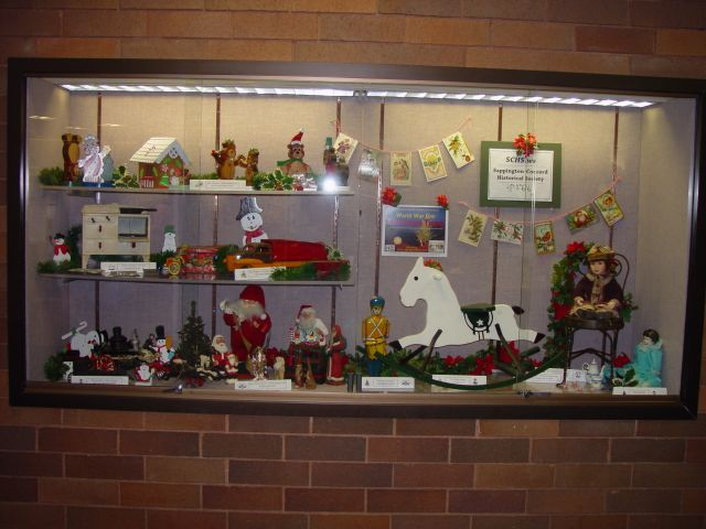 WWI Christmas Truce featured at Oak Bend library display case in December 2014