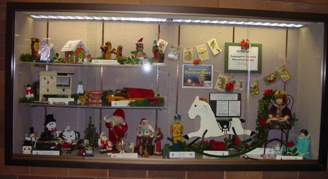 Christmas truce featured in Oak Bend library display case by SCHS, Dec. 1-31, 2014.