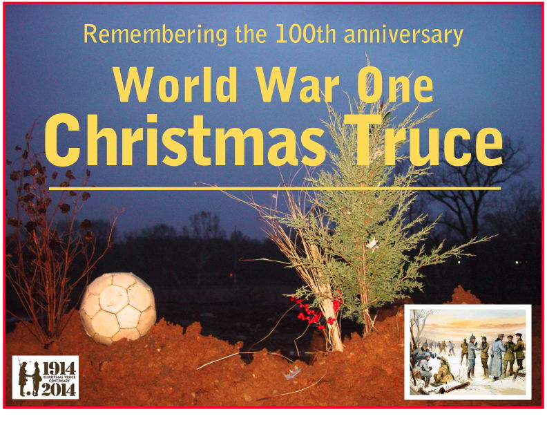 Imaginary recreation of WWI doughboy Christmas decorations in the trenches using materials that might have been available in the trenches or nearby.