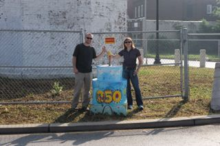 Oldest water tower in St. Louis - Gina Harmon, Artist #220