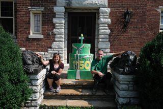 Outdoor learning space in Kaufman Park. Megan Rieke, Artist #247