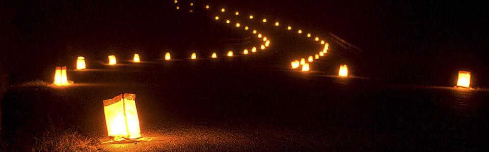Luminaries at Wilsons Greek battlefield. From: http://wilsonscreek.com/10th-annual-memorial-luminary-driving-tour