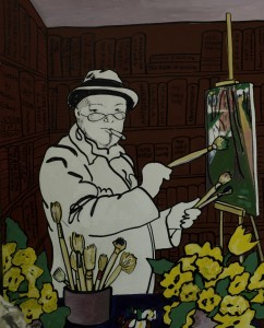 Winston at Work, 1991 by Edwina Sandys (British-American, b. 1938) From: http://blog.visitmo.com/national-churchill-museums-launch-of-art-exhibitions/