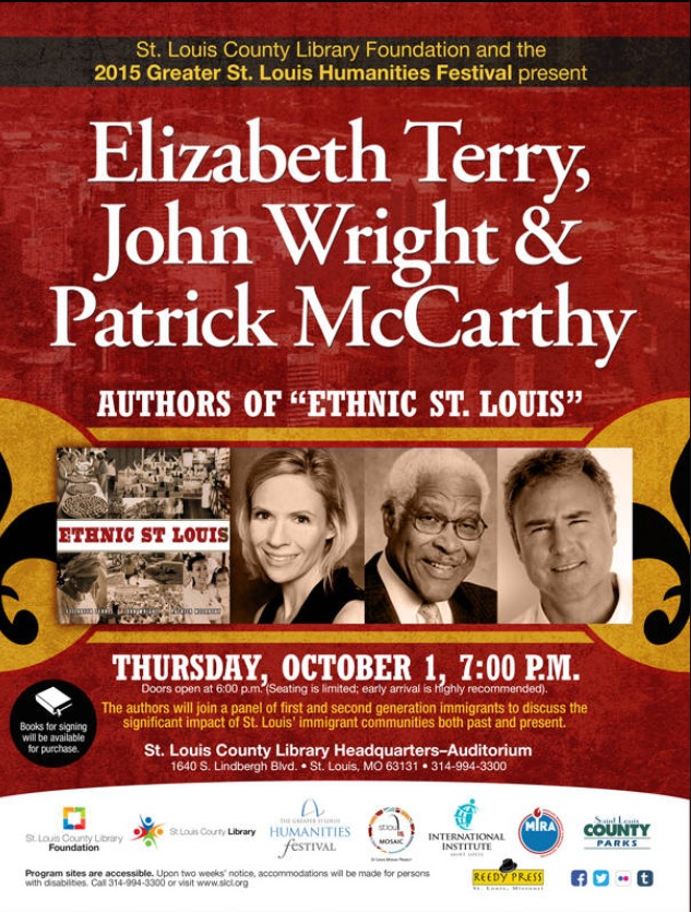 """Elizabeth Terry, along with two co-authors, will be speaking about their new book """"Ethnic St Louis"""" on Thursday, Oct 1 at St Louis County Headquarters."""