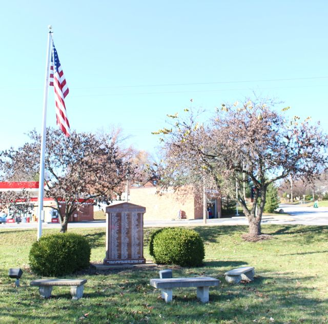 Flag restored at SCHS Memorial Park on a beautiful, calm, cold Sunday morning.