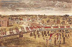 British troops entering Concord