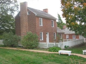The Sappington House as seen from it back garden.