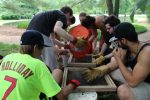 Some of the kids portion on the dig crew, the dig at Sappington House