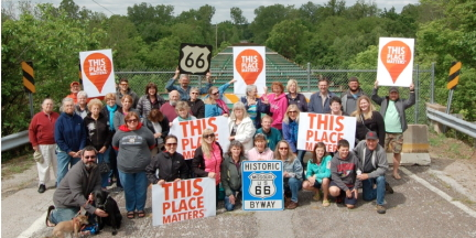 The campaign to save the Route 66 Meramec River Bridge.