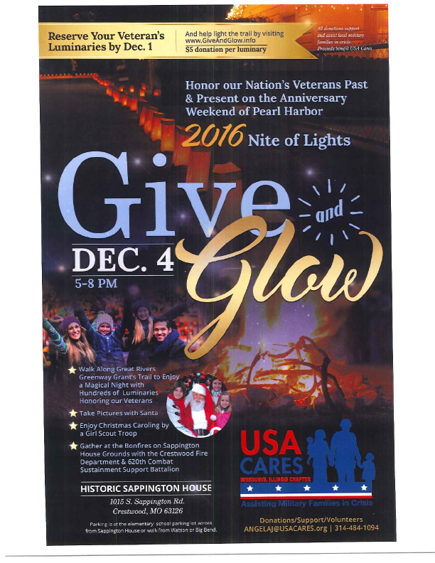 Give and Glow at Sappington House