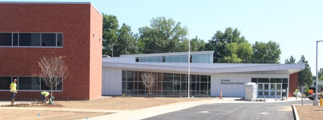 The new Dressel Elementary School under construction