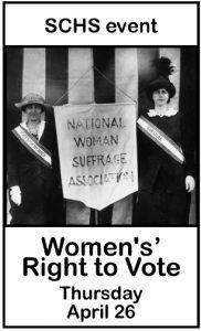 Women's' Right to Vote Thursday April 26