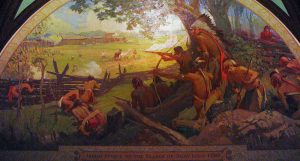 The Battle of San Carlos From: https://en.wikipedia.org/wiki/Battle_of_St._Louis Mural of the attack in the Missouri State Capitol