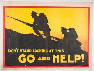 World War I recruiting poster from:https://www.archives.sa.gov.au/blog/ww1-posters