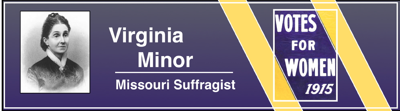 "The graphic above about the Virginia Minor re-enactment has an American suffrage poster from icollector.com set into it. The poster, on the far right, ""Votes for Women 1915,"" is highlighted within a white line."