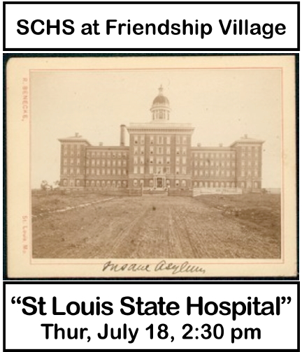 History Talks presetation at Friendship Village South by Sappington-Concord Historical Society and Historic Sappington House