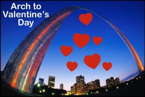 """St. Louis Lore, From the Arch to Valentine's Day"" presented by Dr. John Oldani. Photo from https://explorestlouis.com/partner/gateway-arch/"